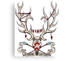 Go Foward With Courage - Stag Skull Canvas Print