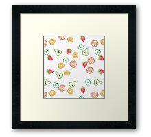Fruit slices Framed Print