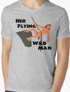 Disney's Tarzan - Her Flying WIld Man Couples Shirt for Him Mens V-Neck T-Shirt
