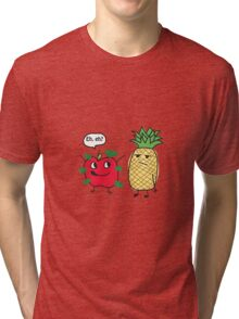 Apple Being a Pineapple Tri-blend T-Shirt