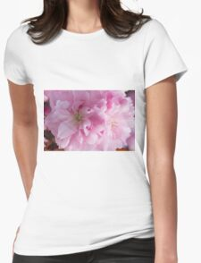 pink flowers on the trees Womens Fitted T-Shirt