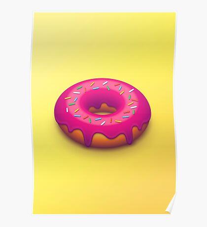 Forbidden Doughnut (Isometric Yellow) Poster