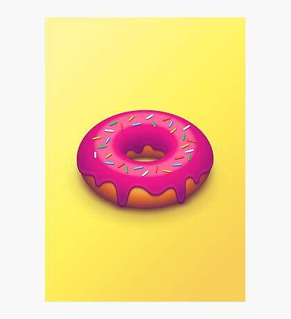 Forbidden Doughnut (Isometric Yellow) Photographic Print