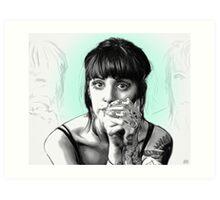 Gaze Illustartion Art Print