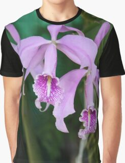 Tropical Flowers Orchids Graphic T-Shirt