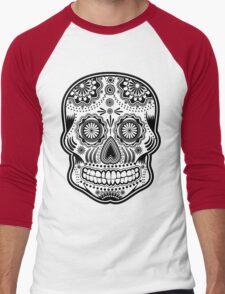 dia de los muertes Men's Baseball ¾ T-Shirt
