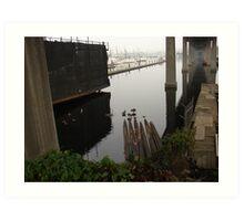 Beneath the Ballard Bridge Art Print