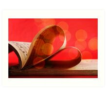 Music notation book with pages shaping heart  Art Print