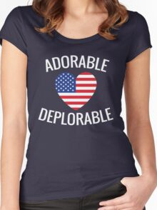 Adorable Deplorable Women's Fitted Scoop T-Shirt