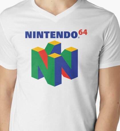 Nintendo 64 Logo  Mens V-Neck T-Shirt