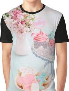 Baby shower cupcakes and cookies Graphic T-Shirt