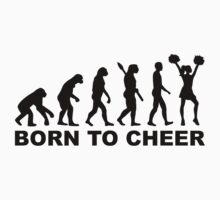 Evolution cheerleading born to cheer Kids Clothes