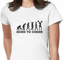 Evolution cheerleading born to cheer Womens Fitted T-Shirt