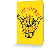 Jiu-jitsu. Go train! Greeting Card