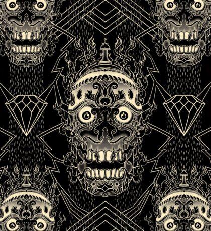 Linework Skull Sticker