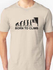 Evolution born to climbing Unisex T-Shirt
