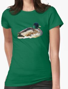 Mallard Duck Womens Fitted T-Shirt