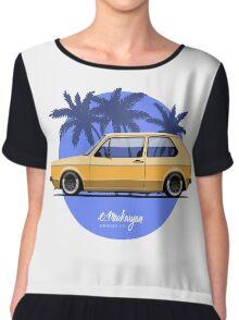 VW Golf mk1 (yellow) Chiffon Top