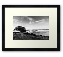Misty morning and relax Framed Print