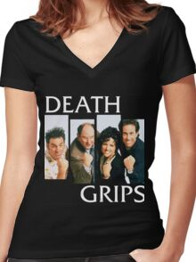 Death Grips Women's Fitted V-Neck T-Shirt