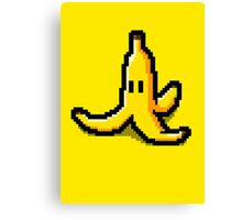 Pixel banana Canvas Print