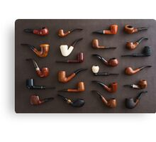 Collection of pipes Canvas Print