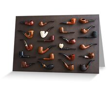 Collection of pipes Greeting Card