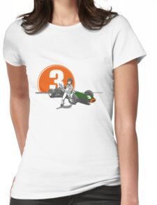 Speed Racer - Graham Hill  Womens Fitted T-Shirt