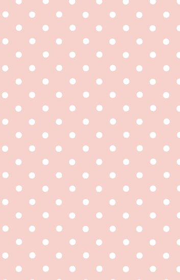 Polka Dots, Spots (Dotted Pattern) - Pink White by sitnica