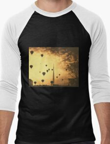 Hot Air Balloons Scenery Men's Baseball ¾ T-Shirt
