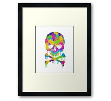 Abstract  Graffiti  Skull Framed Print