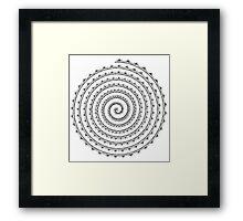 Mandala Spiral Framed Print