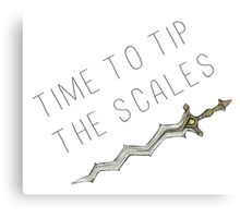 Time to tip the scales! (gentle) Canvas Print