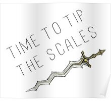 Time to tip the scales! (gentle) Poster