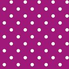 Polka Dots, Spots (Dotted Pattern) - Purple White by sitnica