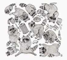 Naughty Raccoons Kids Tee