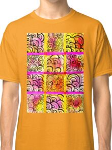 Painted Squares Art with Ornament Classic T-Shirt