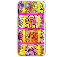 Painted Squares Art with Ornament iPhone Case/Skin