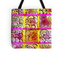 Painted Squares Art with Ornament Tote Bag