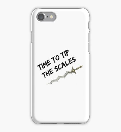 Time to tip the scales! (strong) iPhone Case/Skin