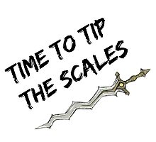 Time to tip the scales! (strong) Photographic Print