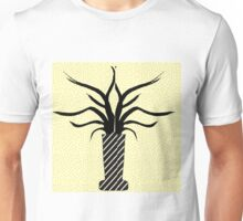 Black and yellow simple and bold vase design Unisex T-Shirt