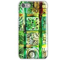 Painted Squares Art with Ornament 2 iPhone Case/Skin