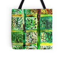 Painted Squares Art with Ornament 2 Tote Bag