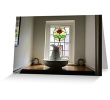 Cottage windowsill Greeting Card