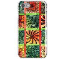 Painted Squares Art with Ornament 3 iPhone Case/Skin