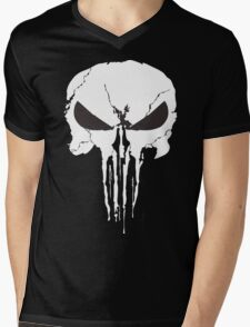 The Punisher Frank Castle Skull Mens V-Neck T-Shirt
