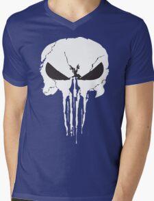The Punisher Frank Castle Skull Mens V-Neck T-Shirt