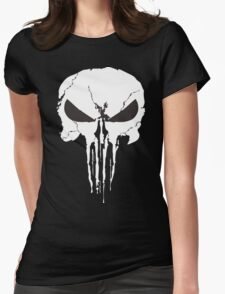 The Punisher Frank Castle Skull Womens Fitted T-Shirt