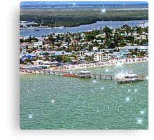 Fort Myers & Sanibel, Florida (Square) Canvas Print